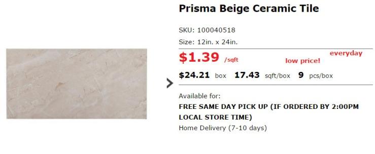 ceramic tile ss